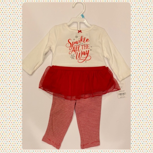 Carter/'s Infant Girls Christmas Outfit Two-Piece Red Various Sizes NWT